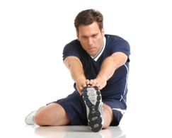Man doing a sports stretch